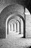 Ancient arcades. Arcades below the amphitheatre at the former roman urbanisation of Xanten royalty free stock image