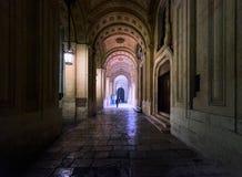 Ancient arcades of Valletta. Malta. stock photo