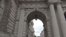 An ancient arch. Architectures detail. London stock video