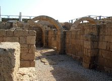 Ancient Arch. Caesarea Royalty Free Stock Photo