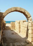 Ancient Arch. Caesarea Royalty Free Stock Photography