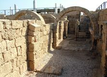 Ancient Arch. Caesarea Stock Photos