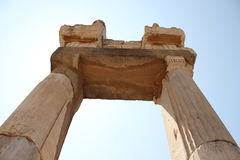 Ancient arch. The ancient arch columns under the blue sky Royalty Free Stock Photography