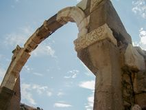 Ancient arch in ephesus royalty free stock image