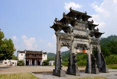 ancient memorial arch in hongcun Stock Photos
