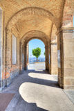 Ancient arch pass in Diano D'Alba, Italy. Royalty Free Stock Image