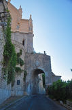 Ancient arch on road leading to the Cathedral, Gaeta Stock Image