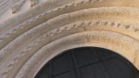 Ancient arch roman style architecture stock video