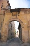 Ancient arch in segovia Stock Images