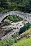 Ancient arch stone bridge Royalty Free Stock Photos