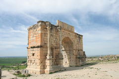 Ancient arch in Volubilis Stock Photography