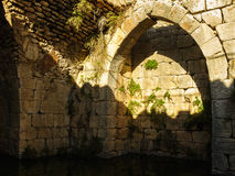 Ancient arch and water reservoir, Nimrod fortress, Israel Royalty Free Stock Photos