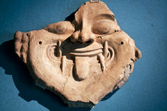 Ancient archaeological face Royalty Free Stock Images