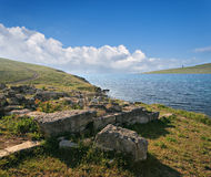Ancient archaeological site on the coast of Crimea, Ukraine. Stock Photography