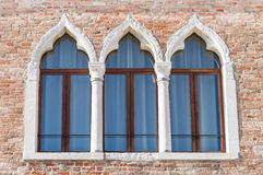 Ancient arched windows typical of Venice Royalty Free Stock Images