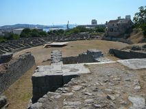 Roman ruins in Salona Stock Photography