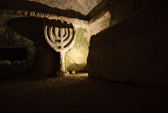 Ancient archeology in Beit She'arim, Israel. Ancient tomb in Beit She'arim, northern Israel Royalty Free Stock Photos