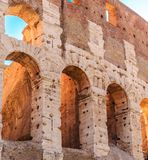 Ancient Arches in Coloseum Stock Photo