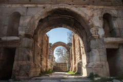 Ancient arches. The ancient Lefke gate of the Roman city walls in Iznik (Nicea), Turkey royalty free stock photos