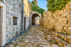 Ancient arches in the pathway to the old town  of Bar Stock Image