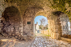 Ancient arches in the pathway to the old town of Bar Stock Images