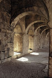 Ancient Arches of the Aspendos Amphitheatre in Turkey Royalty Free Stock Photography