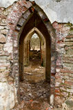 Ancient Arches Through The Brick Walls Stock Photo