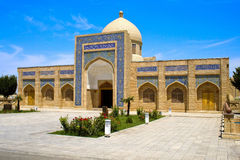 Ancient architectural complex,  Bukhara. The courtyard of the ancient architectural complex  Baha-ad-Din Naqshbandi, Bukhara, Uzbekistan, 16 century, UNESCO Royalty Free Stock Photography