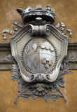 Ancient architectural element. Shield. Royalty Free Stock Image