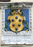 Ancient architectural element. Shield. Royalty Free Stock Photos