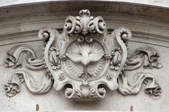 Ancient architectural element. Shield. Stock Photography