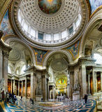Ancient architectural masterpiece of Pantheon in Paris, France Royalty Free Stock Image