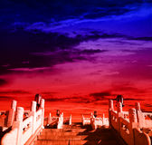 Ancient architecture. A Chinese ancient architecture level Royalty Free Stock Image