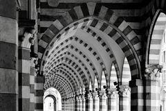 Ancient architecture arch gallery Stock Photography