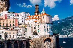 Ancient architecture of Atrani village. Amalfi Coast Royalty Free Stock Photography