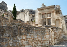 Ancient architecture in Baux de Provence Stock Images