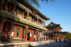 Ancient architecture in beijing of china. Ancient architecture of Summer palace in beijing china Royalty Free Stock Photo