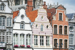 Ancient architecture in the Belgian city. Of Mechelen (Malines) close up Royalty Free Stock Photos