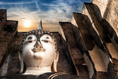 Ancient architecture of Buddhist temples in Sukhothai Historical Royalty Free Stock Image