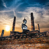 Ancient architecture of Buddhist temples in Sukhothai Historical Stock Photo