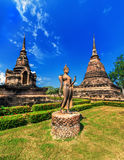Ancient architecture of Buddhist temples in Sukhothai Historical Stock Photography
