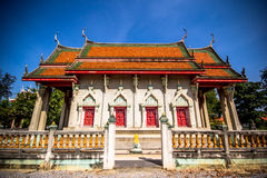 Ancient architecture at Budhist temple in  Thailand Royalty Free Stock Photo