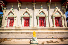 Ancient architecture at Budhist temple in  Thailand Stock Images