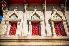 Ancient architecture at Budhist temple in  Thailand Stock Photo