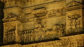 Ancient architecture of the Castel Nuovo and triumphal arch in Naples, sequence. Stock footage stock video footage