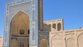 Ancient architecture of Central Asia and East. Old historical building with arch and dome. Ancient buildings of medieval Asia. Bukhara, Uzbekistan stock footage