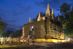 Ancient architecture in Chiangmai, Thailand.(Wat Jed Yod) Stock Image