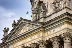 Ancient architecture. Church fragment. Royalty Free Stock Photos