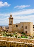 Ancient Citadel, Victoria, Malta. Ancient architecture of the Citadel with ruins, Victoria, Gozo Island Royalty Free Stock Photo