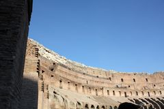 Ancient architecture Colosseum in Roma Italy. Day Royalty Free Stock Photo